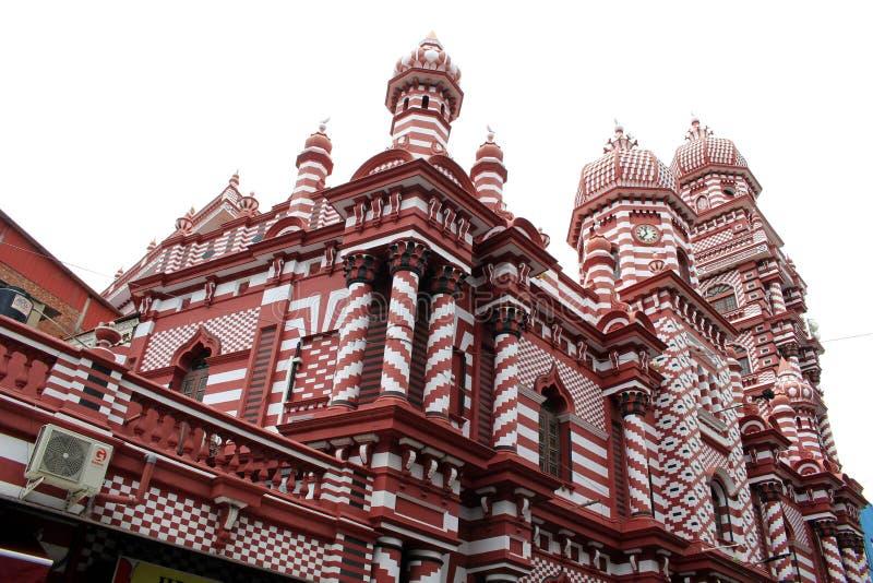 Die interessante Architektur roten Moscheen-Jami-ULs-Alfar in Colo stockbild