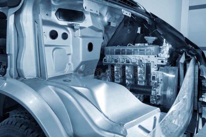 Die Interne Struktur Des Kraftfahrzeugmotors Stockfoto - Bild von ...