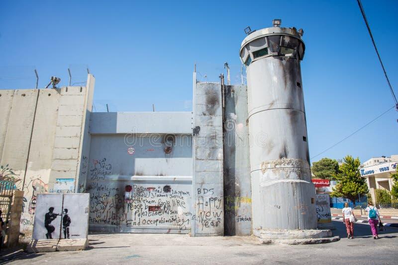 Die israelische Westjordanlandsperre lizenzfreie stockfotografie