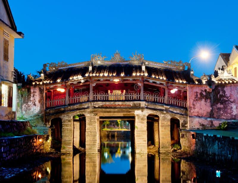 Die japanische Brücke, Hoi, Vietnam. lizenzfreie stockbilder
