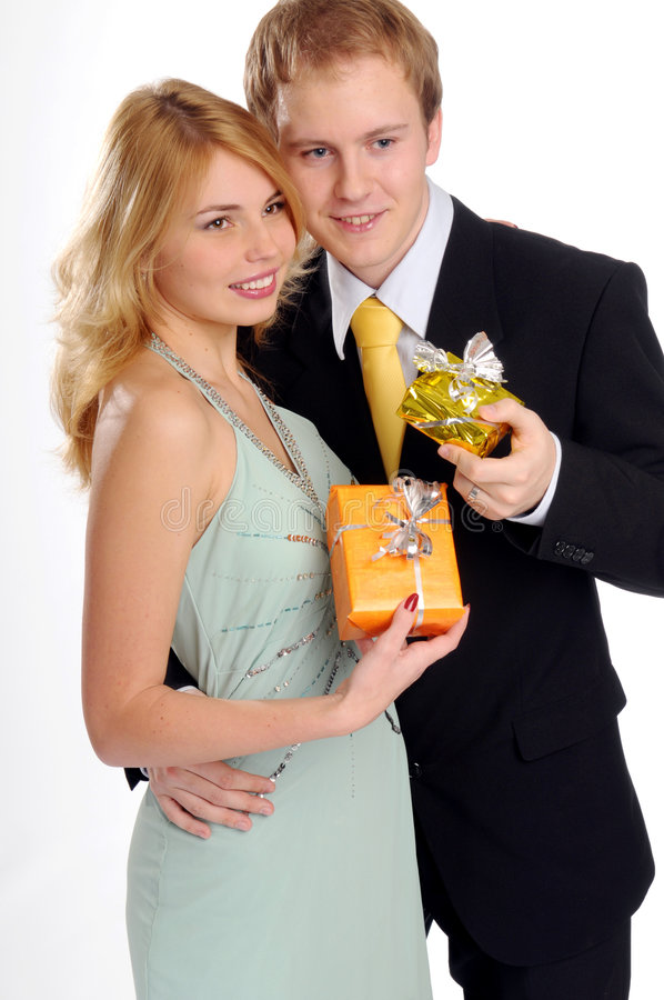 Die jungen attraktiven Paare lizenzfreies stockbild