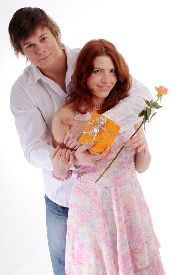 Die jungen Paare stockbild