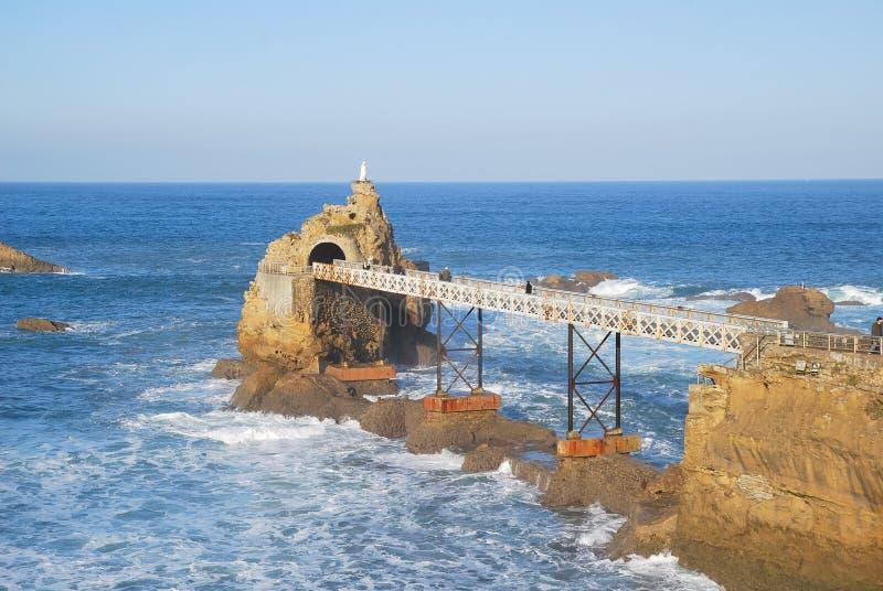 Die Jungfrau auf dem Roc von Biarritz lizenzfreies stockfoto