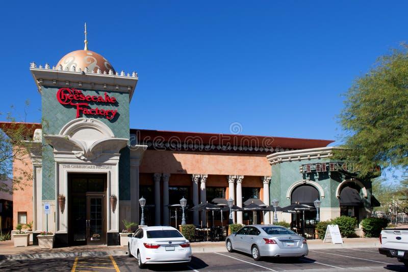 Die Käsekuchen-Fabrik in Scottsdale, AZ stockfotografie