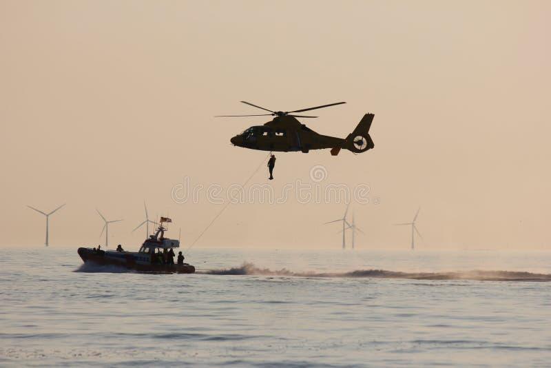 Die königliche niederländische Seenotrettungs-Institution stockfotografie