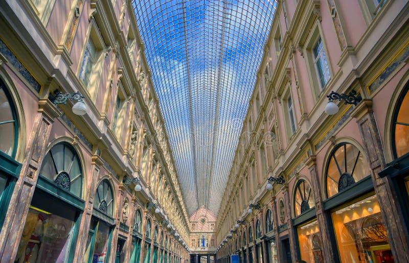 Die königlichen Galerien Heilig-Hubert in Brüssel, Belgien stockfoto