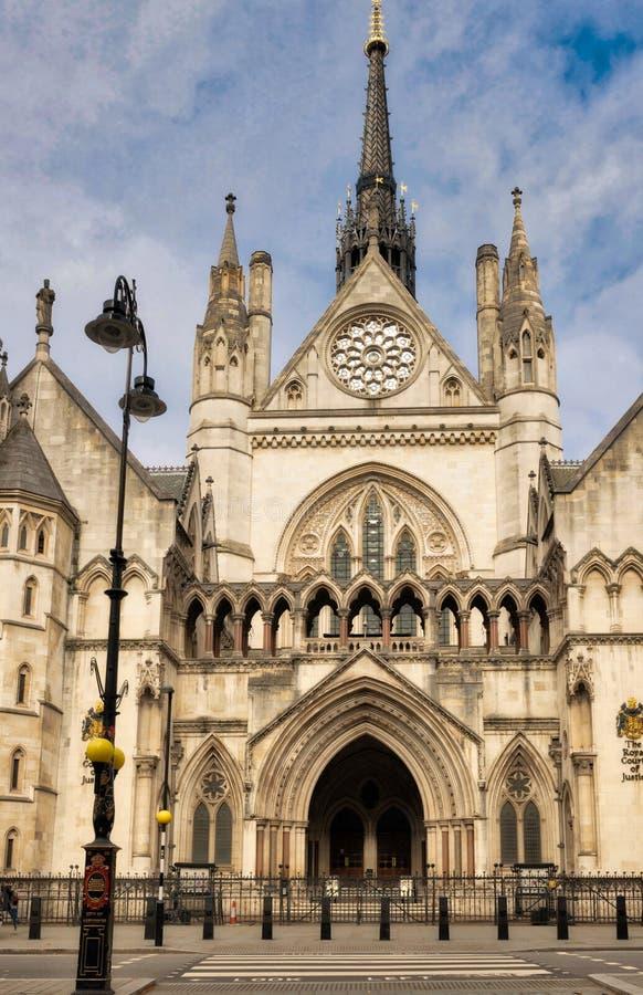 Die Königshöfe von Gerechtigkeit, London lizenzfreies stockbild