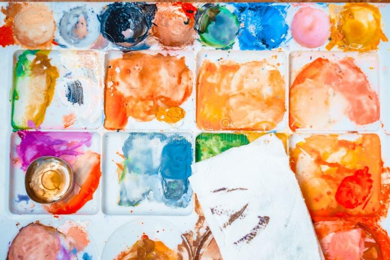 die Künstler ` s Palette lizenzfreies stockbild