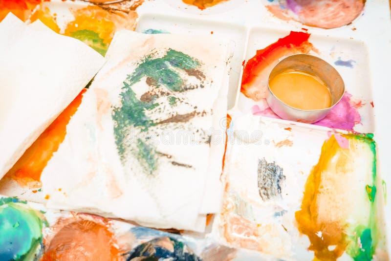 die Künstler ` s Palette lizenzfreie stockbilder