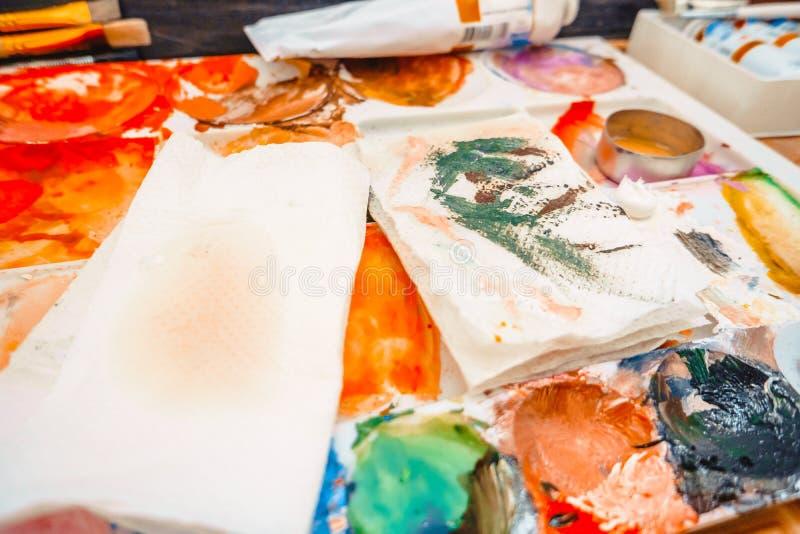 die Künstler ` s Palette lizenzfreies stockfoto