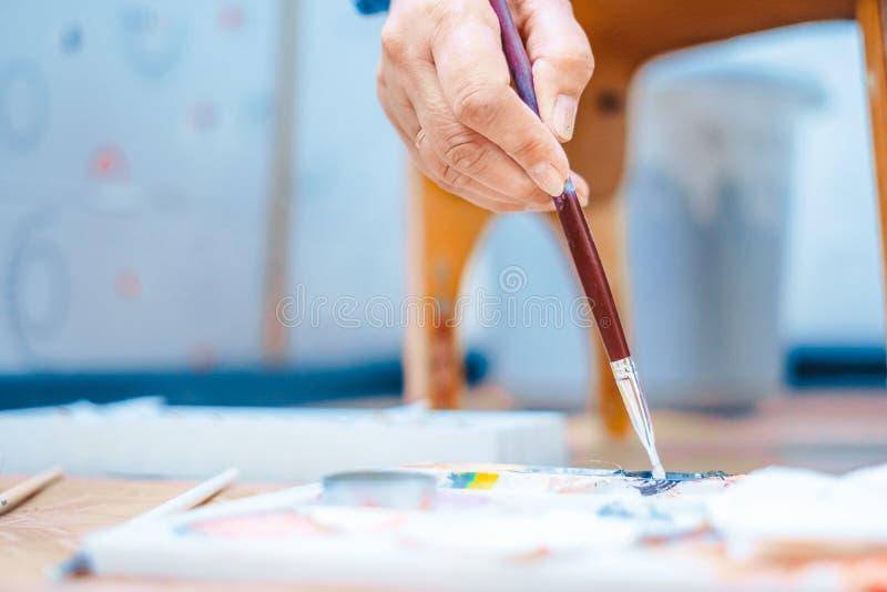 die Künstler ` s Palette stockfotos