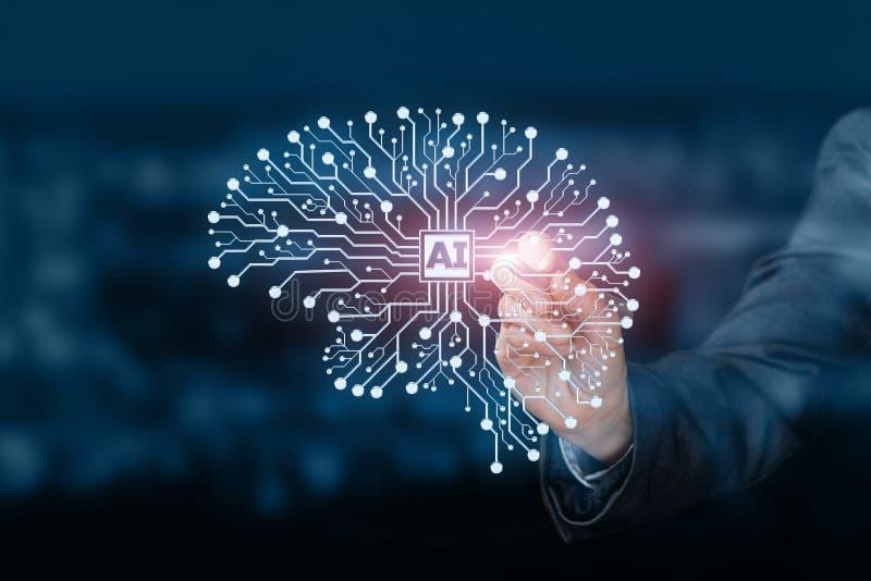 Die künstliche Intelligenz lizenzfreies stockfoto