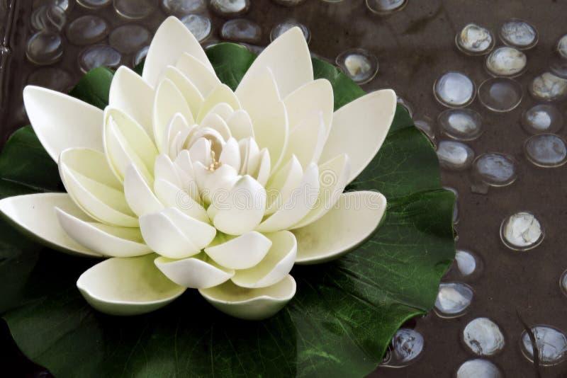 Die künstliche Lotosblume stockbilder