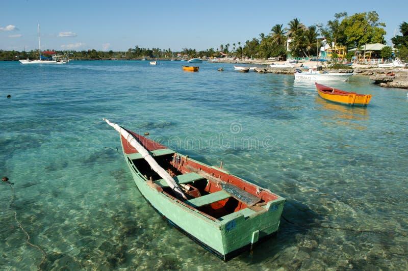 Die Küste bei Bayahibe auf Dominikanischer Republik lizenzfreies stockfoto