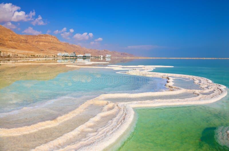 Die Küste des Toten Meers stockbilder