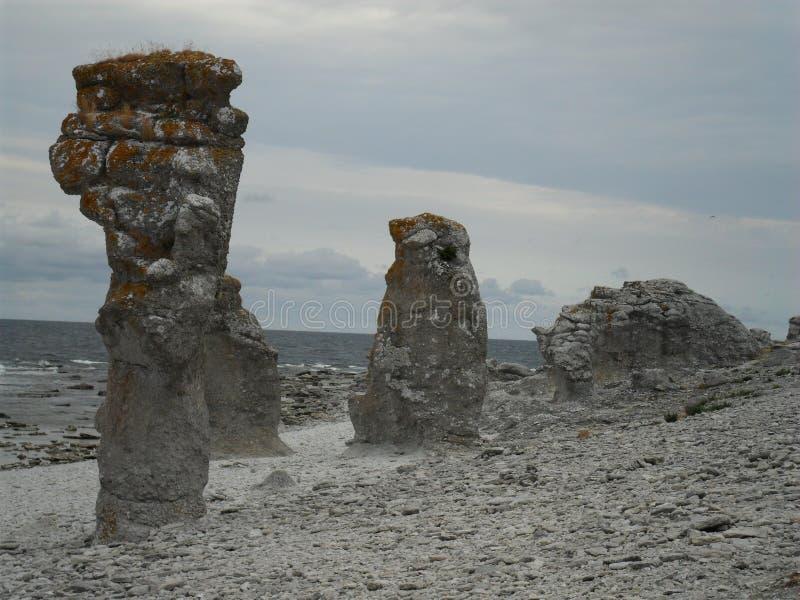 Die Küste von Farö stockbilder