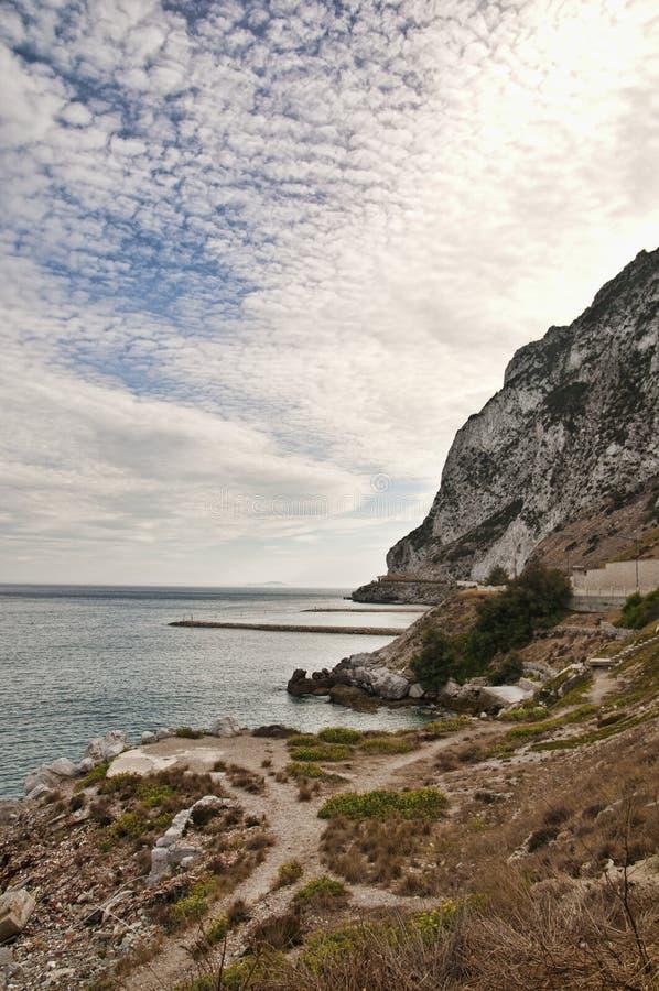 Die Küste von Gibraltar stockfoto