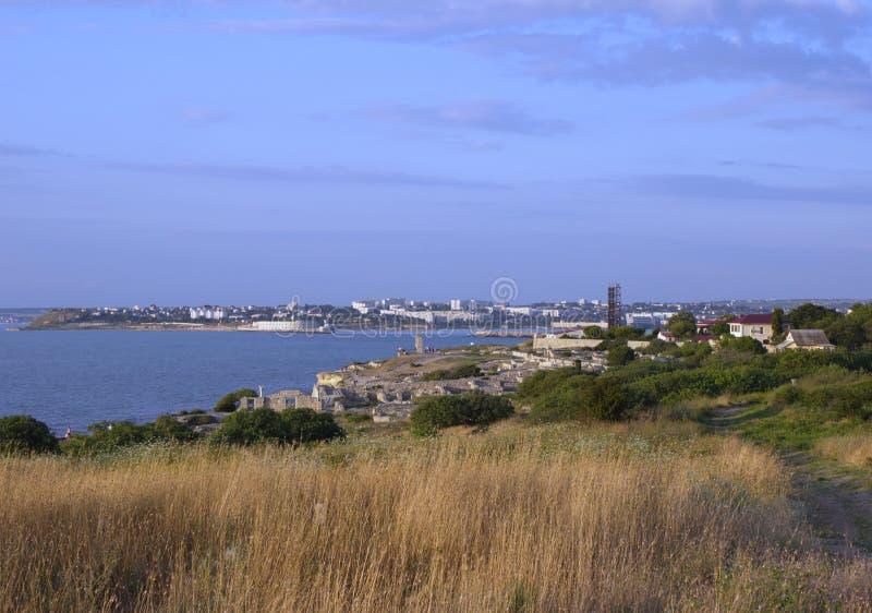 Die Küste von Sewastopol-Stadt lizenzfreie stockfotos