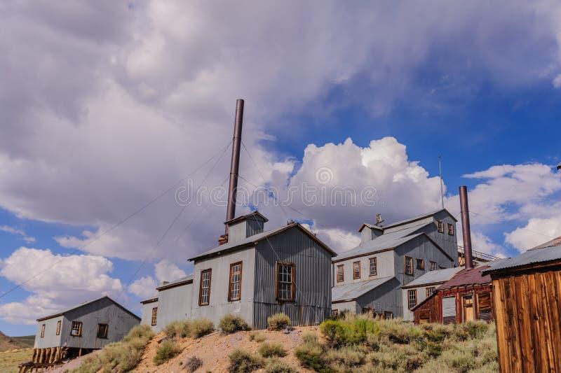 Die kalifornische Geisterstadt von Bodie stockfotografie