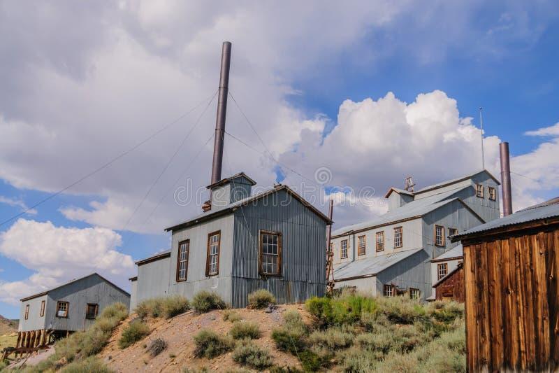 Die kalifornische Geisterstadt von Bodie stockbild