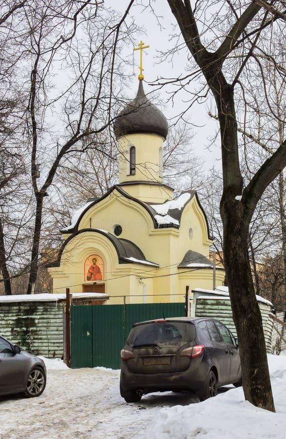 Die Kapelle von Dmitry Donskoy außerhalb der Ostwand des Andronikov-Klosters moskau lizenzfreie stockfotografie