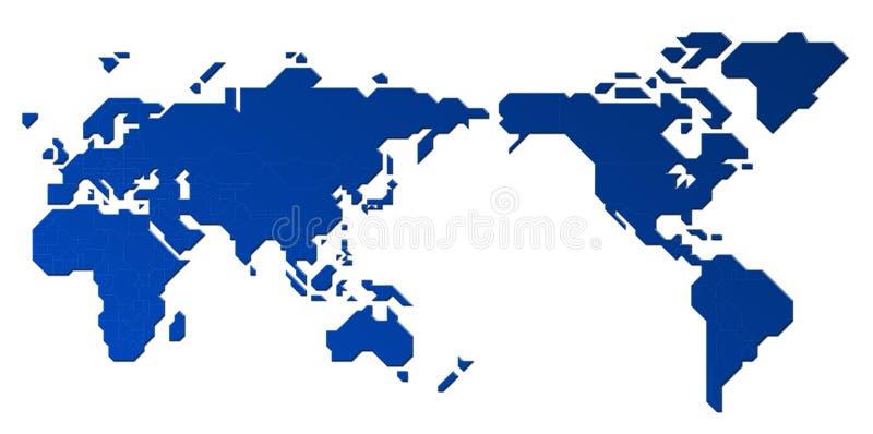 Die Karte der Welt lizenzfreie abbildung