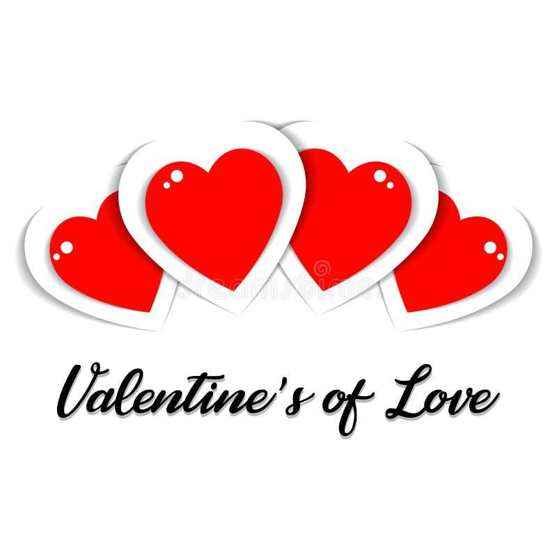 Die Karte eines Valentinsgrußes der Liebe vektor abbildung