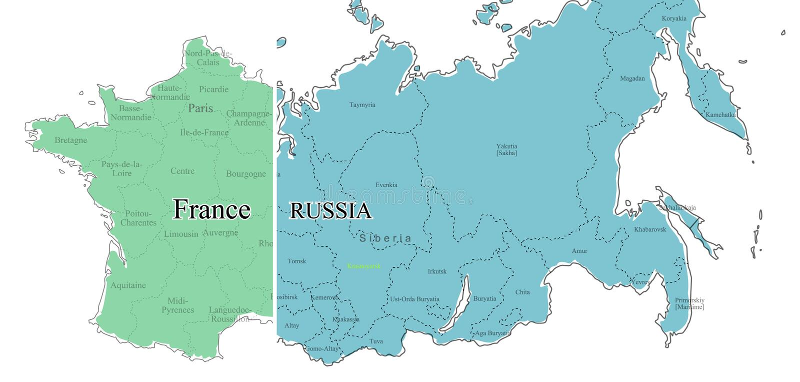 Russland-Frankreich stock abbildung