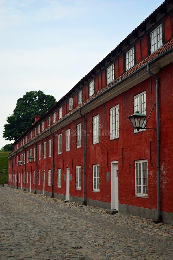 Die Kasernen am kastellet Kopenhagen lizenzfreies stockbild