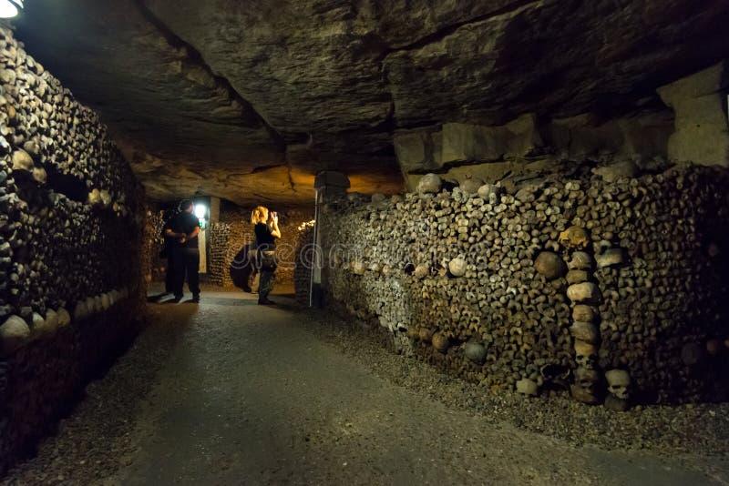 Die Katakomben von Paris lizenzfreies stockbild
