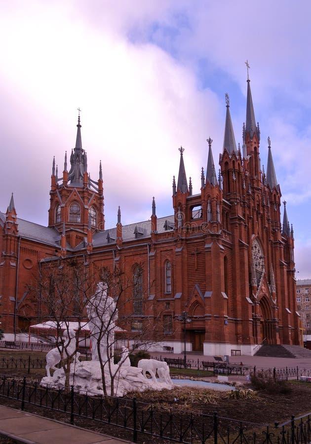 Die Kathedrale der Unbefleckten Empfängnis der heiligen Jungfrau Mary Moscow lizenzfreies stockbild