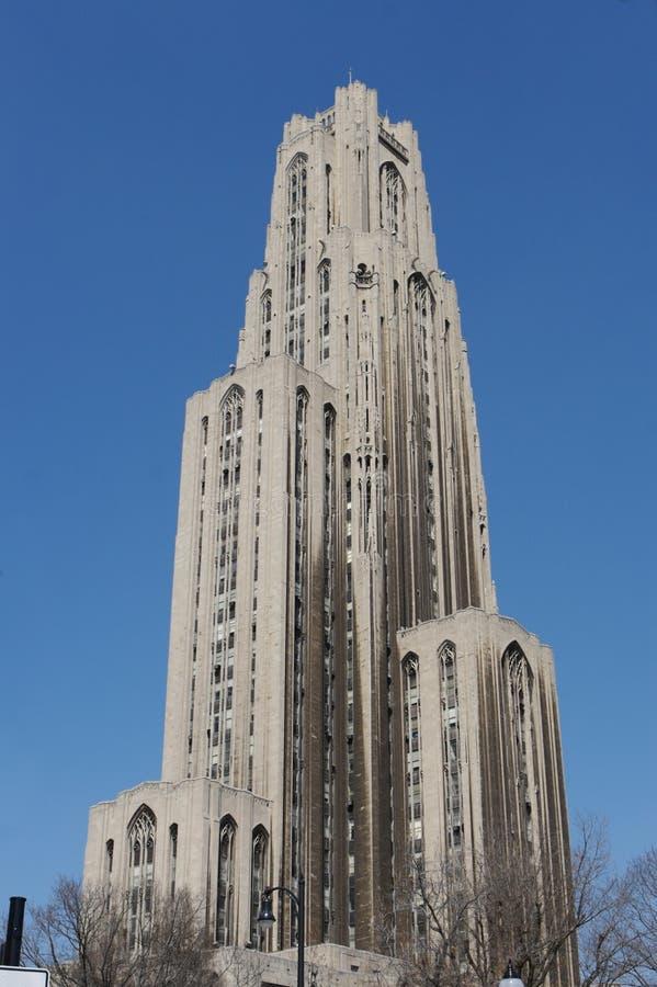 Die Kathedrale des Lernens in Pittsburgh lizenzfreie stockfotografie