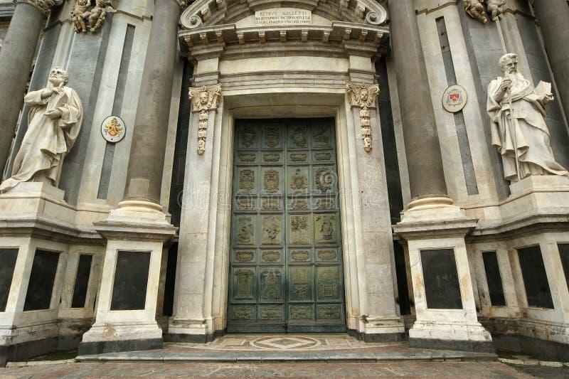 Die Kathedrale von Catania, Sizilien, Süditalien. lizenzfreie stockbilder