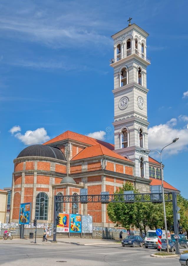 Die Kathedrale von gesegneter Mutter Teresa in Pristina stockfotografie