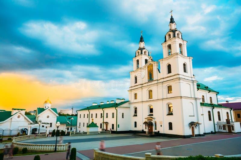 Die Kathedrale von Heiliger Geist in Minsk, Weißrussland stockfotos