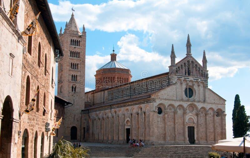Die Kathedrale von Massa Marittima stockfotos