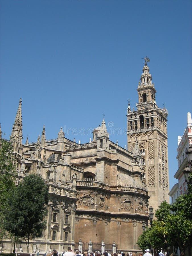 Die Kathedrale von Sevilla, Spanien stockbild