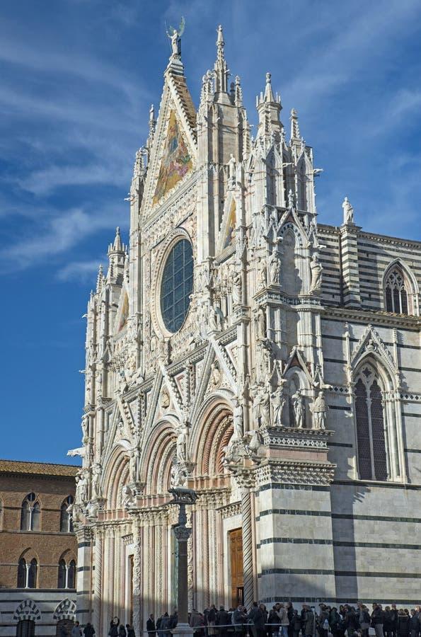 Die Kathedrale von Siena lizenzfreie stockbilder