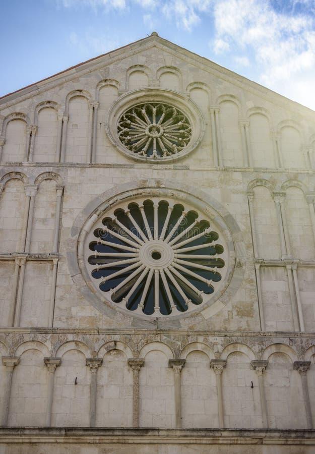 Die Kathedrale von St. Anastasia, Zadar lizenzfreie stockfotos