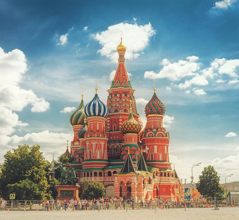 Die Kathedrale von Vasily gesegnet lizenzfreies stockbild