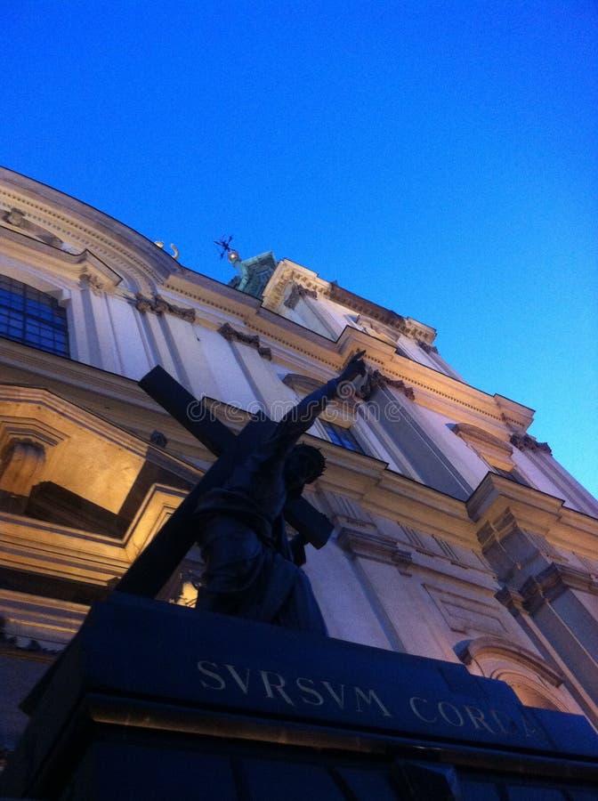 Die Kathedrale in Warschau stockbild