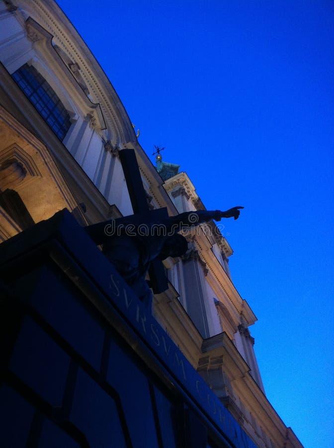 Die Kathedrale in Warschau stockfotografie