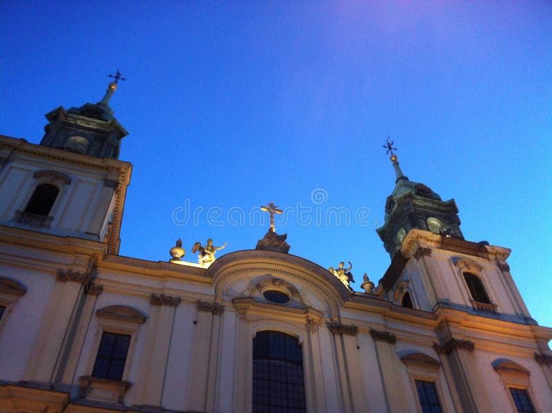 Die Kathedrale in Warschau lizenzfreies stockbild