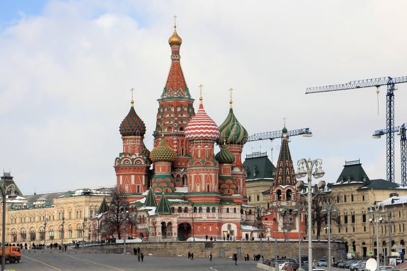 Die Kathedralen-Fürbitte-Kathedrale St.-Basilikums auf Rotem Platz stockfoto