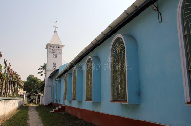 Die katholische Kirche in Bosonti, Westbengalen, Indien lizenzfreies stockbild