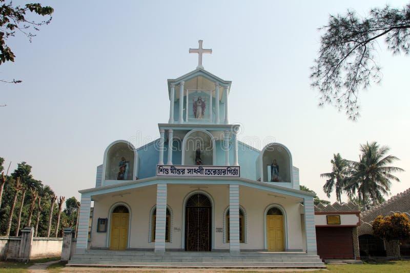 Die katholische Kirche in Bosonti, Westbengalen, Indien lizenzfreie stockbilder