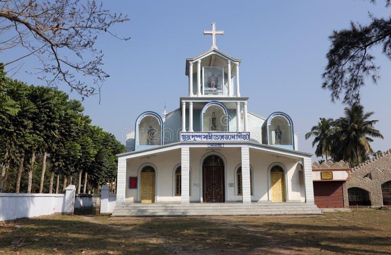 Die katholische Kirche in Bosonti, Westbengalen, Indien lizenzfreies stockfoto