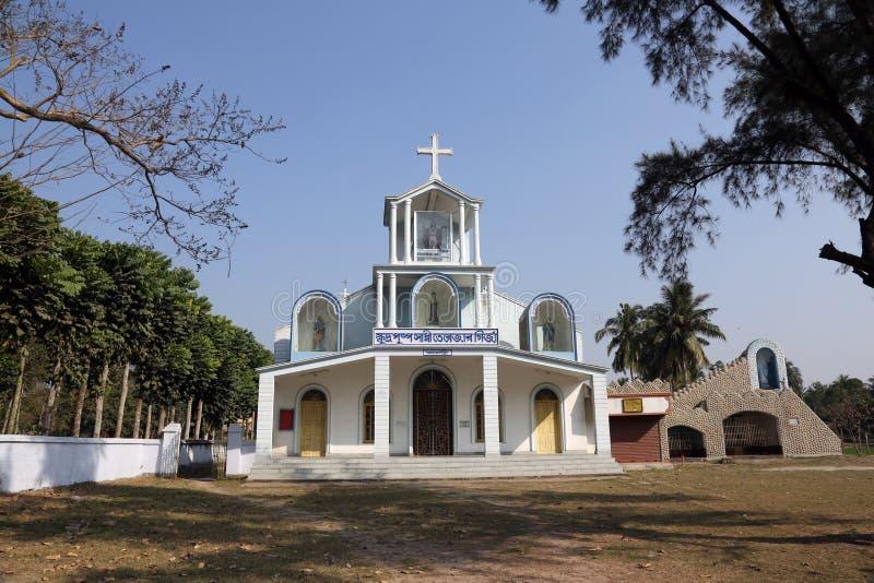 Die katholische Kirche in Bosonti, Westbengalen, Indien stockfotos