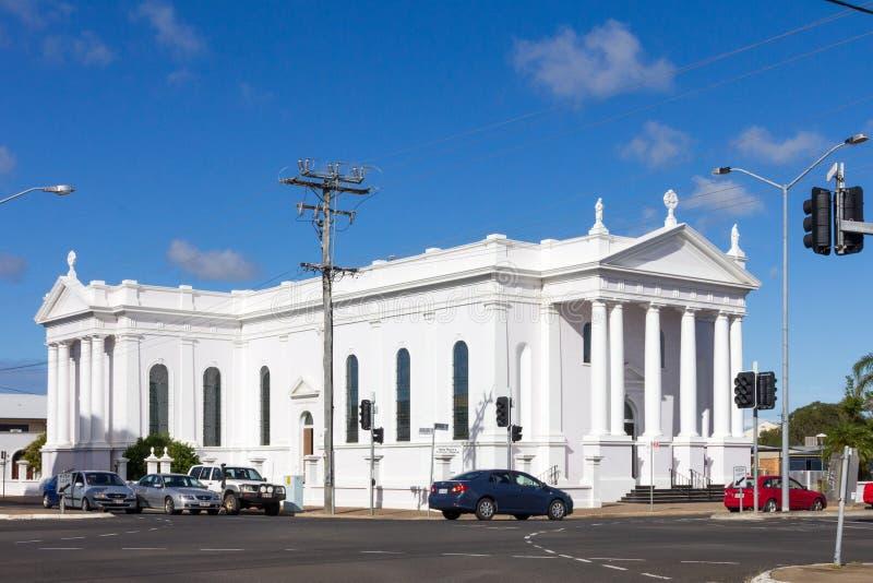 Die katholische Kirche des heiligen Rosenbeetes, Bundaberg, Queensland, Australien stockbilder