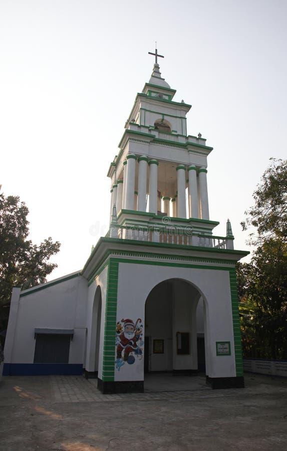 Die katholische Kirche in Kumrokhali, Westbengalen, Indien lizenzfreie stockbilder